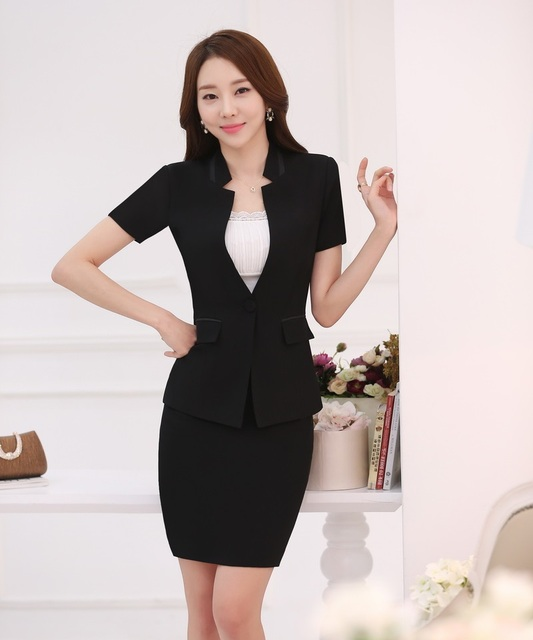 Disegni Di Donne Eleganti Ufficio Formali Uniformi Estate Affari