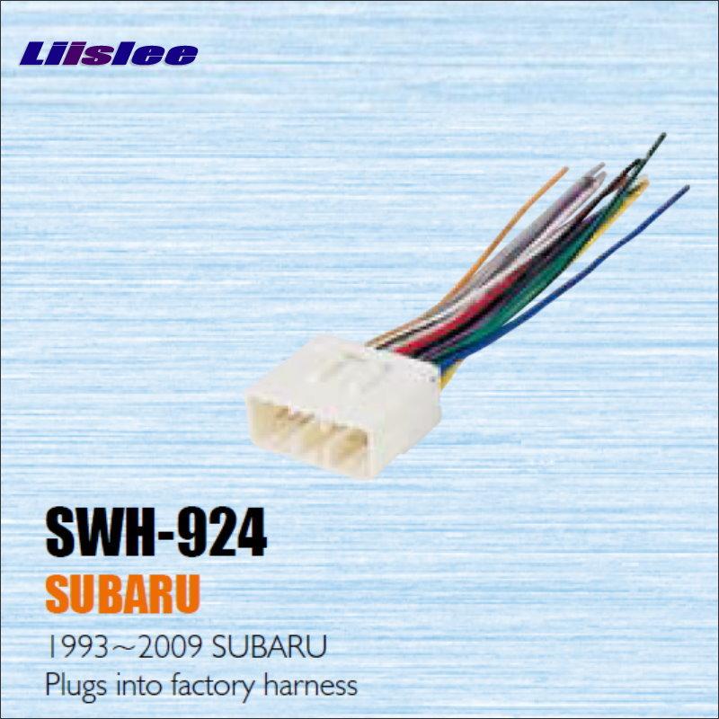 Uprz Dla Subaru Liislee Mo na Pod czy do Fabryki 1993 2009 Radio Power drut Adapter swh 924 wire harness su6 radio antenna adapter wiring wiring  at bayanpartner.co