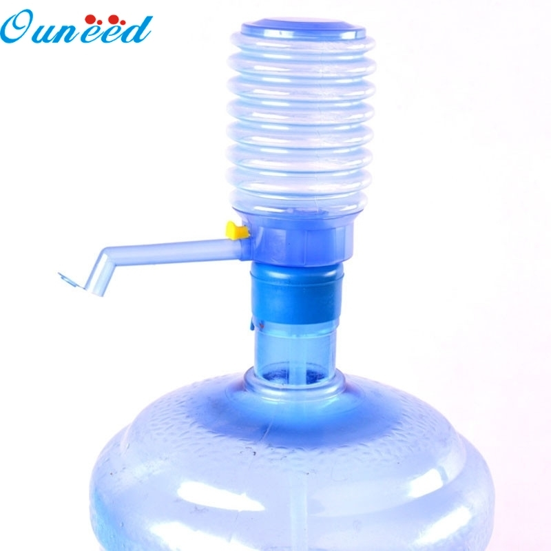 Ouneed Home Hand Press Pump Dispenser Bottled Drinking Water Easy Hand Press Pump Dispenser Home Indoor Outdoor 1PC water cooler tap water dispenser parts 304 stainless steel wireless electric bottled water pumping unit mineral water pump