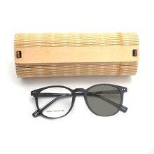 e19fbc12937a2 Óculos De Sol Fotocromáticas transição grão de madeira Retro quadro Óculos  de Leitura Multifocal Progressiva de Inteligência Com.