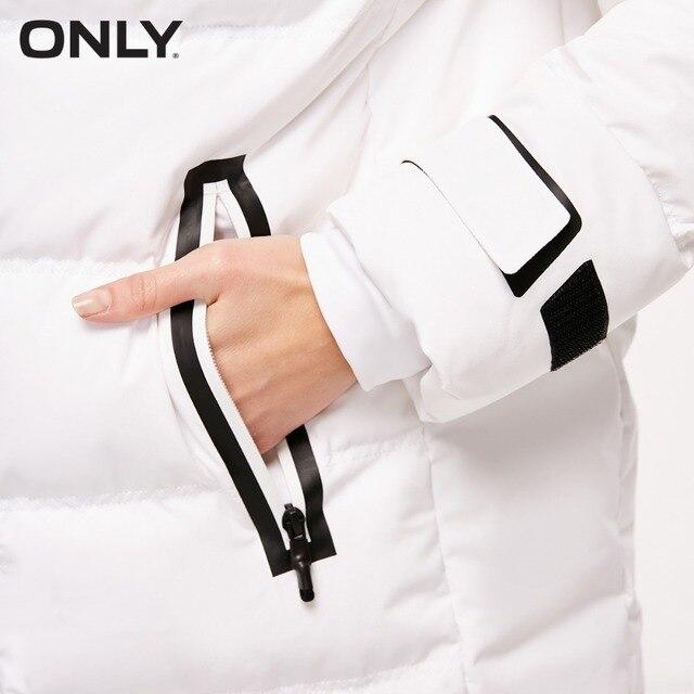 ONLY veste en duvet de canard blanc à capuche en duvet de canard blanc pour femmes | 118312566 3