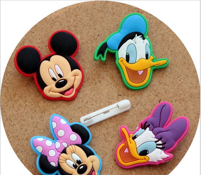 Creative Cartoon PVC Badges Children's Brooch Beautiful
