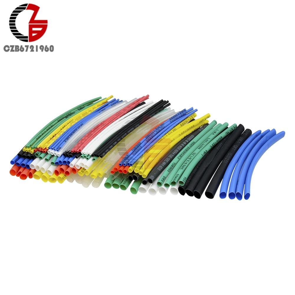 140 stücke Auto Elektrische Kabel Rohr kits Schrumpf Schlauch Schläuche Wrap Hülse Assorted 7 farbe Mixed Farbe Schläuche Sleeving wrap Draht