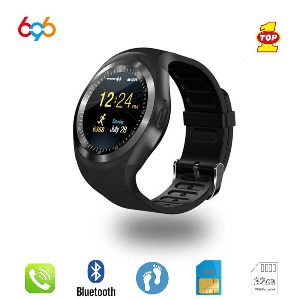 696 Y1 Smartwatch Bluetooth Smart Watch Reloj Relogio 2G GSM SIM App Sync Mp3 For Huawei Android Phones PK DZ09 GT08 Z60