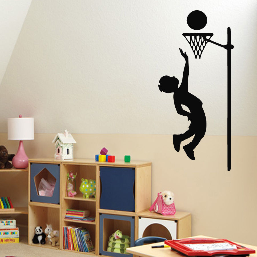 compare prices on basketball wall decor online shopping buy low wall decals boy basketball player sport vinyl sticker murals wall decor china mainland