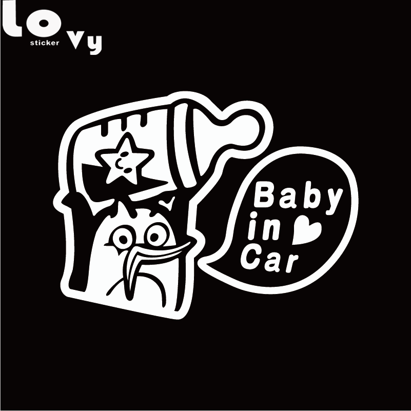 Смешные ребенка в прокат виниловая Стикеры Творческий мультфильм Предупреждение знак автомобиля Наклейка