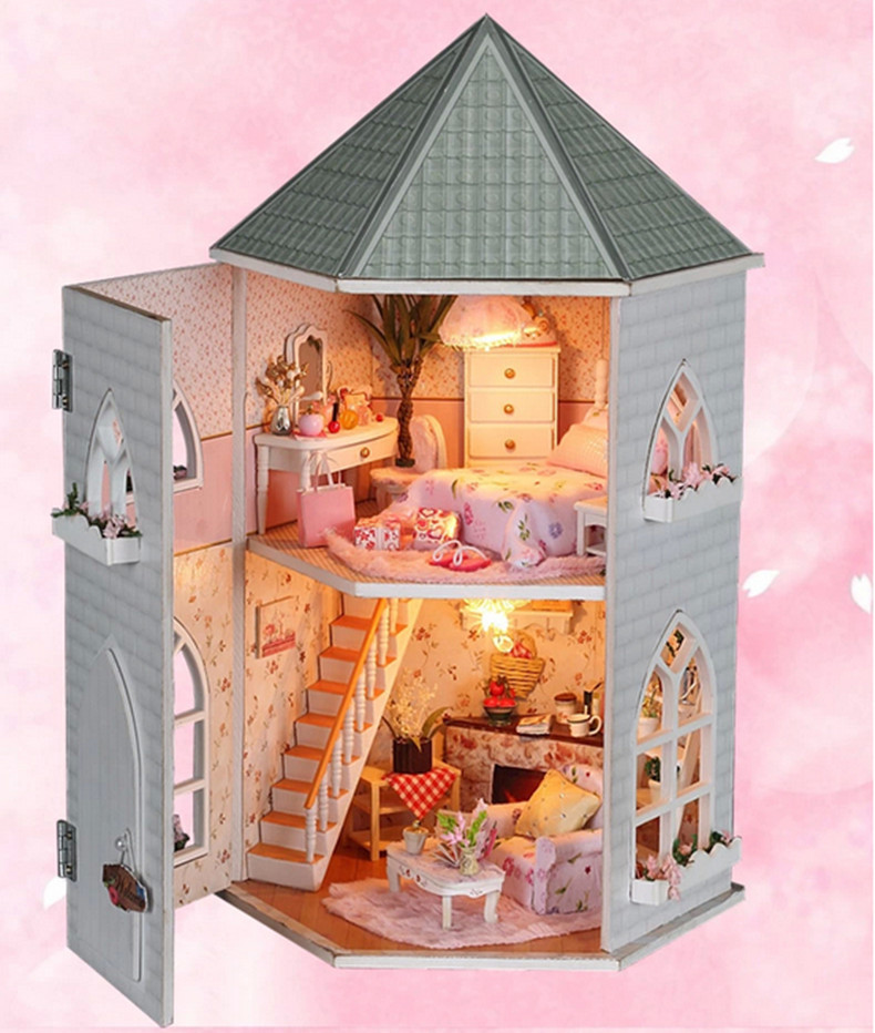 Elegant Free Shipping Kiddie Children 3D Hand Make Assembling DIY Toy With  Furniture Miniature Model Wooden Doll House Gift In Puzzles From Toys U0026  Hobbies On ...