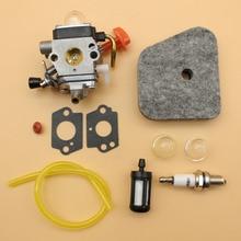 Carburetor Air Filter Primer Bulb Spark Plug Set Fit STIHL FS90 FS100 FS110 FS87 FS90R FS100 FS87R FS90K String Trimmer цена