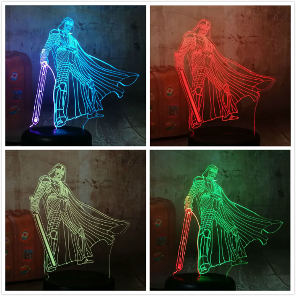 New Star Wars Darth Vade 3D RGB LED Night Light 7 Color Chang Sleep Table Lamp Luminaria Bedroom Decor Holiday Kids Boys Gift ...