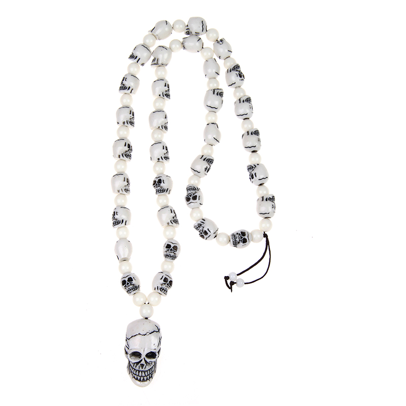 Подражать Yake кость Мужская Череп Скелет головы амулет pandent очарование Цепочки и ожерелья с браслет ювелирных изделий