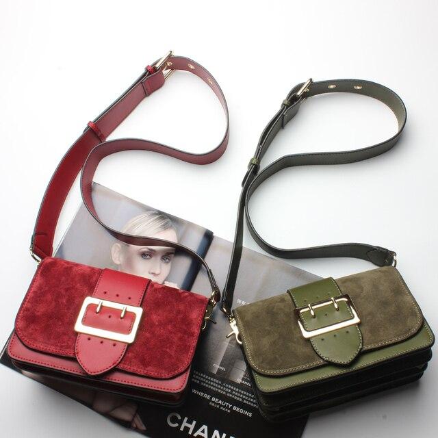SUNNY SHOP Brand Designer Women Shoulder Bag 2017 New Fashion Genuine Leather Women Bag  Cow Leather Handbag