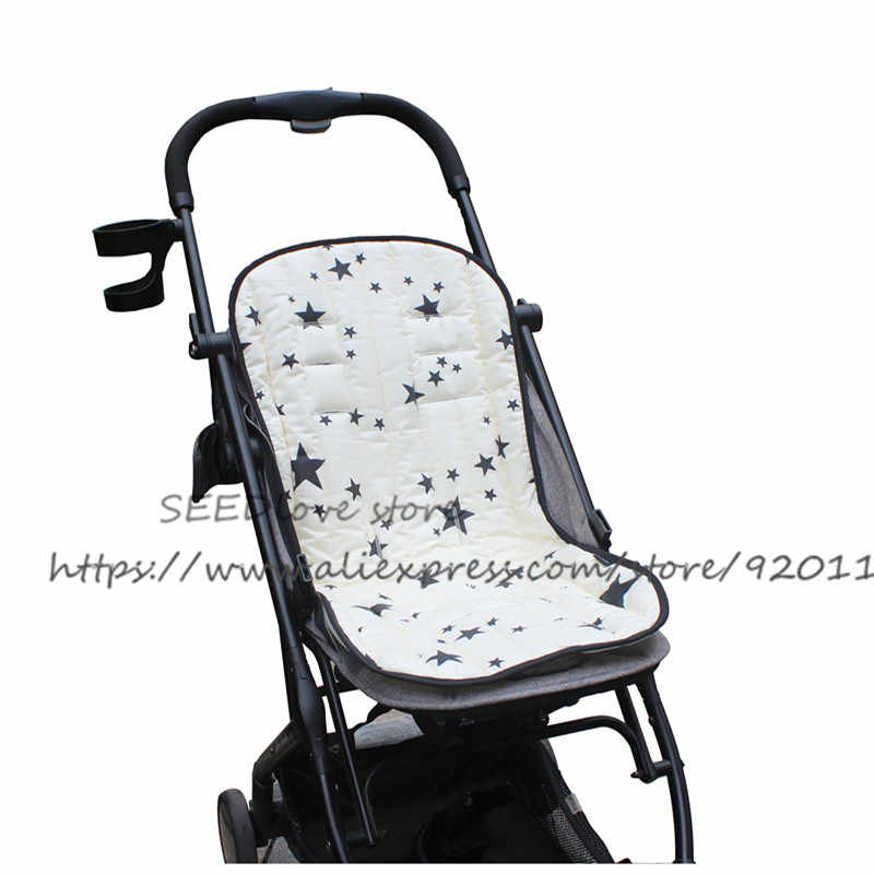 матрасик в коляску Сиденье для детской коляски Подушка двухсторонняя хлопковая подкладка для сиденья дышащая мягкая подушка для сиденья автомобиля поддерживающий матрас коврик аксессуары для коляски матрас в коляску