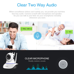 Image 2 - INQMEGA 1080P Cloud Wireless IP Camera Auto Tracking Indoor Home Security Surveillance Camera wifi CCTV Network cam Baby Monitor