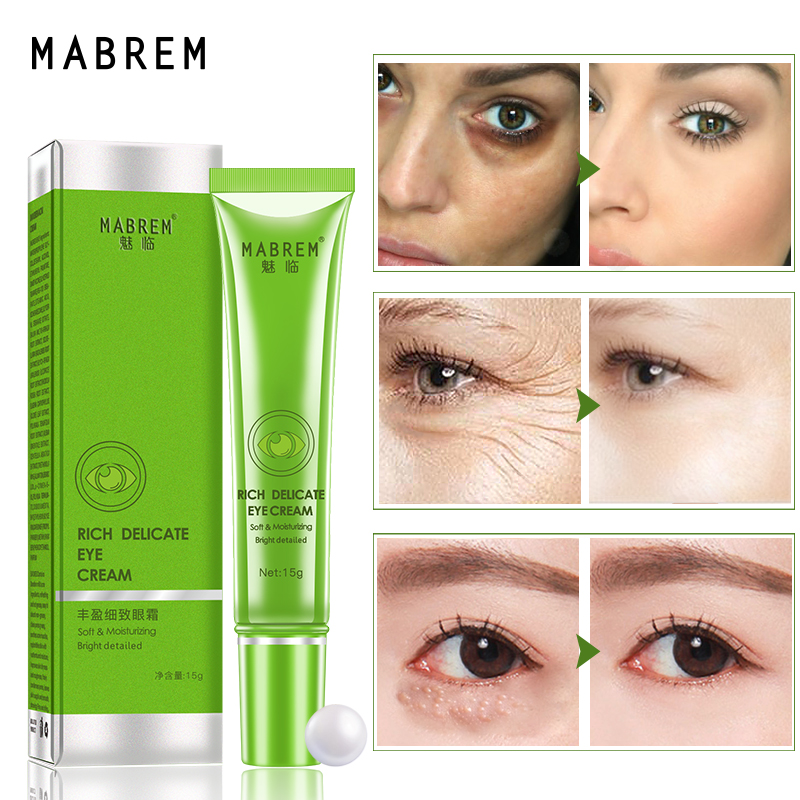Rich And Delicate Eye Cream Anti-Wrinkle Anti-aging Peptide Collagen Repair Remover Dark Circles Fat Granule Moisturizing