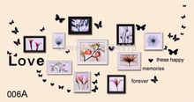 Fashion Combination Of Wall Stickers Can Be Removed With A Photo Sofa Bedroom Background Colorful Butterfly AY006