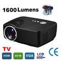 WZATCO Descuento Grande WIFI simple hd proyector Portátil mini led proyector 1600 lúmenes de cine en casa Projetor proyector de la ayuda 1080 P