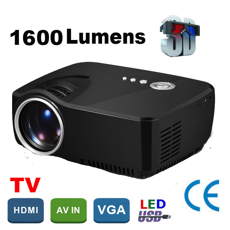 WZATCO best price WIFI simple hd beamer Portable mini led projector 1600lumen home theater Proyector aun Projetor support 1080P