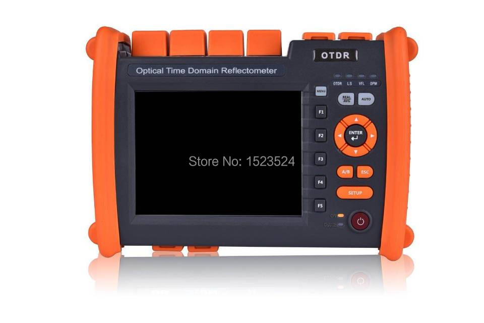 T-OT650S35A 32/30dB SM 1310/1550nm Optical Time Domain Reflectometer Fiber Optic OTDR with Built in VFL Touch Screen