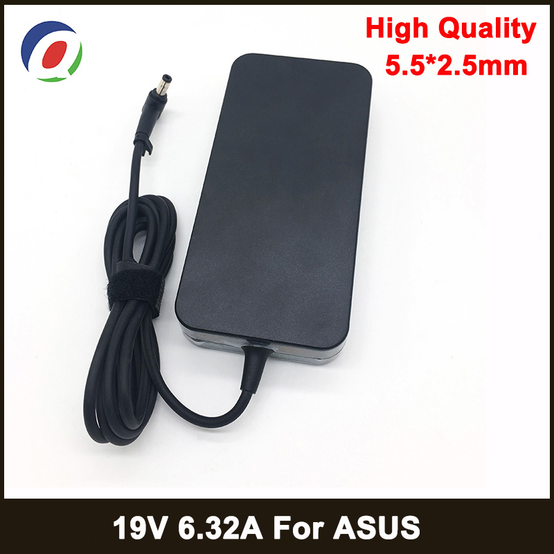 <font><b>19V</b></font> <font><b>6.32A</b></font> 5.5*2.5mm 120W Laptop Adapter Notbook Power Supply For toshiba ACER <font><b>Asus</b></font> N550 K53 N750 N500 N56V N53S G50 N55 <font><b>Charger</b></font> image