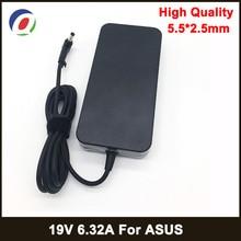 19V 6.32A 5.5*2.5mm 120W מתאם נייד Notbook אספקת חשמל עבור toshiba ACER Asus N550 K53 n750 N500 N56V N53S G50 N55 מטען