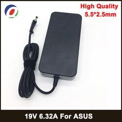 Adaptador para ordenador portátil de 19V 6.32A 5,5*2,5mm 120W fuente de alimentación Notbook para toshiba ACER Asus N550 K53 N750 N500 N56V N53S G50 N55 cargador