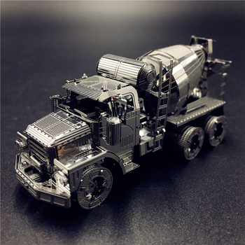 MMZ MODEL NANYUAN 3D Metal model kit CEMENT MIXER Engineering vehicle Assembly Model DIY 3D Laser Cut Model puzzle toy for adult