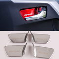 2016 New Car Styling  Stainless Steel 4pcs/set Car Interior door bowl stickers Sequins For Toyota RAV4 2016 Decoration Sequins