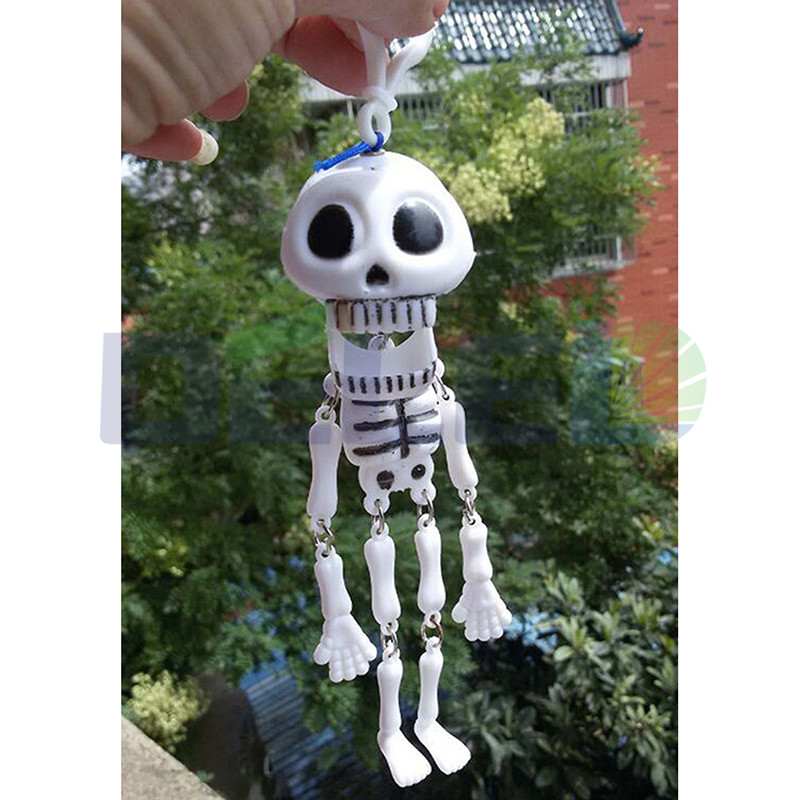 free shipping 1pcs diy funny crawling skull novelty joker toy mini skeleton halloween model party toys - Halloween Novelties Wholesale