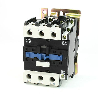 цена на CJX2-6511 DIN Rail Mount AC Contactor 3 Pole One NO 24V Coil 80A