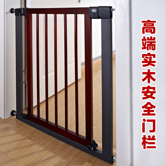 Madera maciza de alta calidad bebé niño puerta de la escalera puertas y ventanas puerta de la cerca del perro cerca del animal doméstico