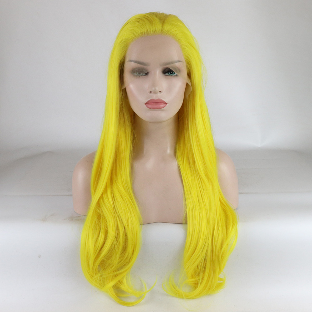 Marquesha Lace Front Yellow Wig Realistic Looking Long