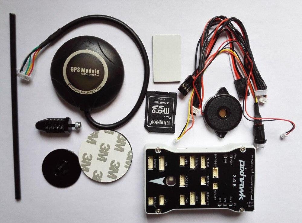 Freies Verschiffen Pixhawk 2.4.8 PX4 Autopilot PIX 32 Bit Flight Controller mit NEO M8N GPS gebaut in Kompass/GPS stehen
