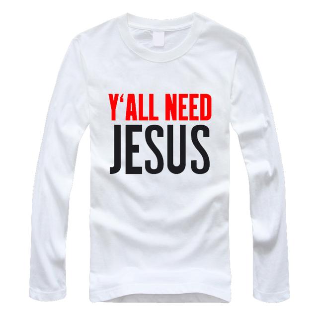 Christian JESUS T Shirts Men/women T shirts  Catholic Long Sleeve shirts tee shirt