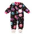 Unisex Do Bebê Roupa Do Bebê Da Menina do Menino Macacão Patas Animais Infantil Romper Do Bebê de Manga Comprida de Lã Roupa Do Sono Do Bebê Pijamas Newborn