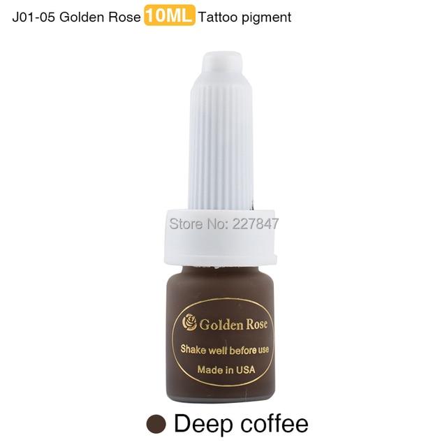CHUSE 3pcs J01-05 Deep Coffee Golden rose permanent makeup ink pigment 10ML eyebrow Tattoo Colors PMU Tattoo Paint