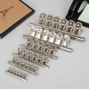 Image 5 - Ücretsiz Kargo (36 adet/grup) 51mm yuvarlak üst Kavrama Klipler Bulldog klip paslanmaz çelik kağıt klip Ofis tedarik metal fatura klip