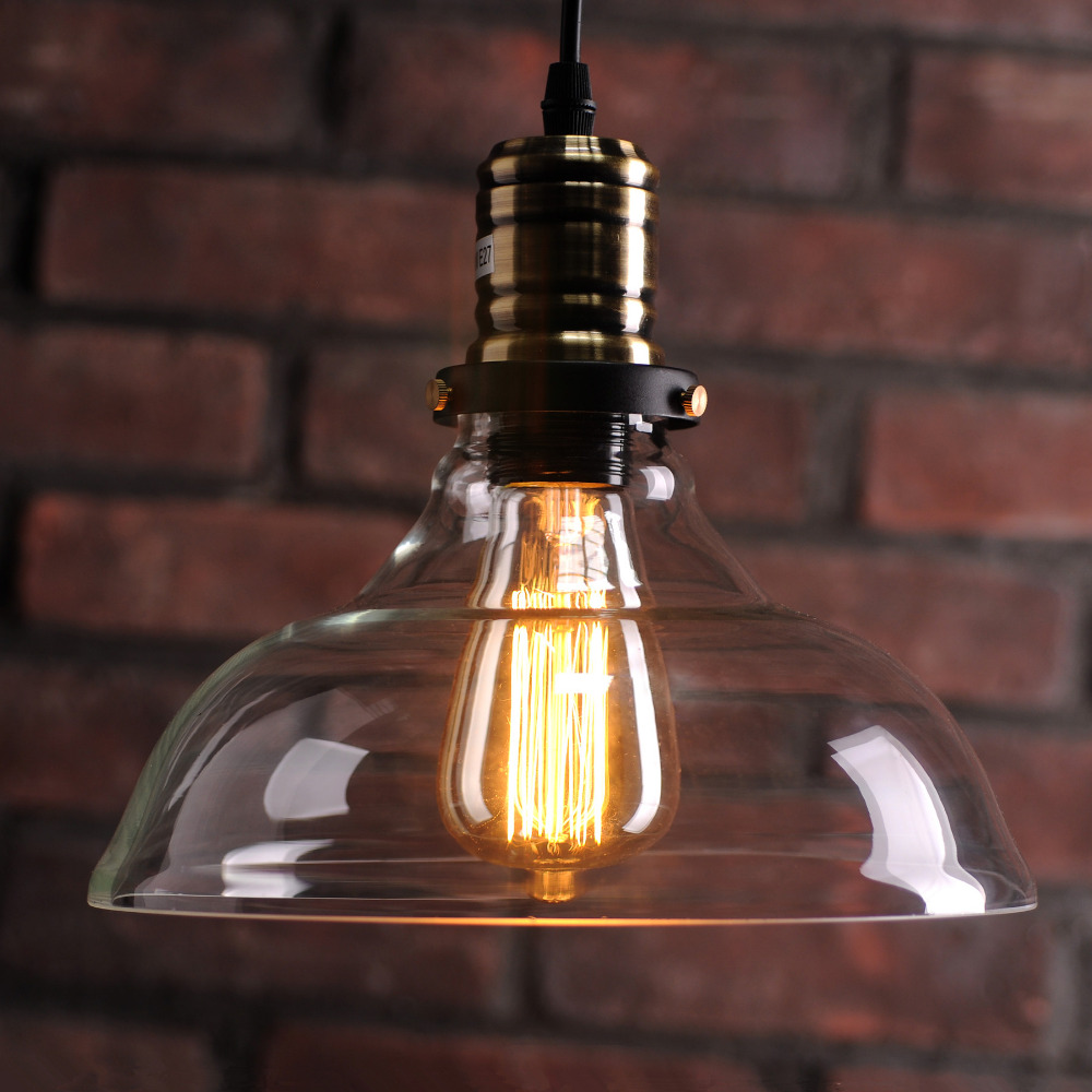 retro vintage industrial style edison glass ceiling light lamp for bedroom living room e27 home. Black Bedroom Furniture Sets. Home Design Ideas