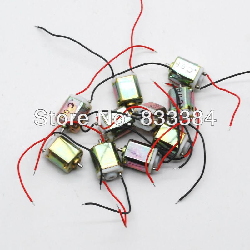 20 pc 6.5 x 8 mm DC micro Motor 1.5 V 0.005A 20000RMP de alta velocidade com cabo mini Motor grátis shippnig