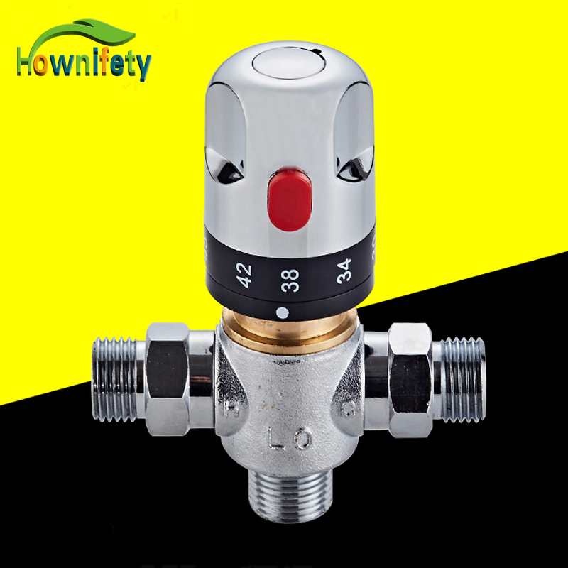 Free Shipping Brass Thermostatic Valve Temperature: Free Shipping Chrome Thermostatic Mixing Valve Solid Brass