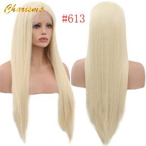 Image 4 - Парик Из прямых синтетических волос Charisma, шелковистые парики #60 блонд, термостойкие парики с натуральными волосами для женщин