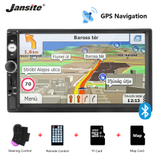 Jansite 7 Car Radio GPS Navigation MP5 player DVD Digital Touch screen Bluetooth Mirror-link 2din car stereo with Backup camera eincar double 2din 7 car radio headunit car stereo gps bluetooth mp5 player car radio 1080p audio mirror usb rear view camera