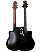 High Quality Round Back Rosewood Fingerboard Picea Asperata Solid Acoustic Electric Guitar With Carbide Alloy Of