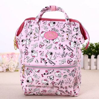цена на Cartoon Genuine Hello Kitty My Melody Backpack women Schoolbag girls Hello Kitty Primary Middle school Bags for children kids