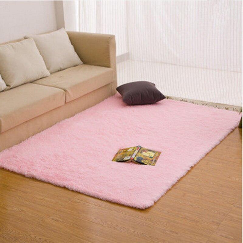 1PC Multi Color Bathroom Carpet Mat Pad For Living Room Doorway Large Solid Soft Suede Bath Mat Floor Rug Anti Slip Mat Rug