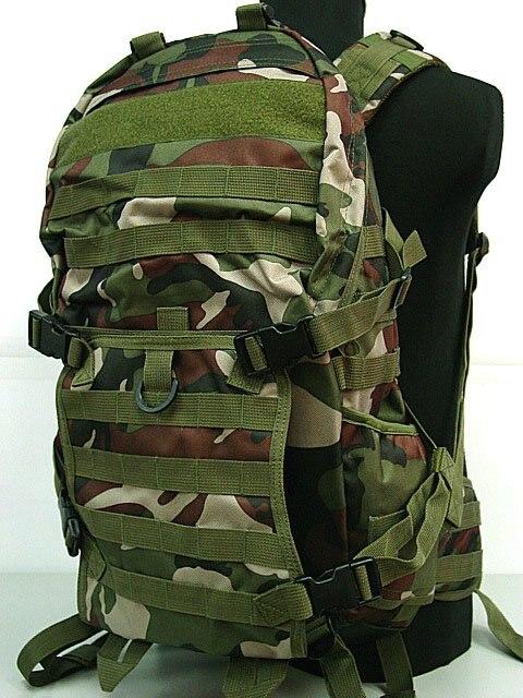 Tactique Molle Patrouille Fusil Gear Backpack Camo Forêt BK OD CB Numérique ACU camo