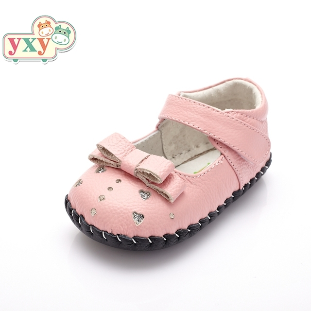 af8d8d7f YXY summer genuine pig leather frog baby giraffe bow first walkers girls  boys toddler hand-made Newborn soft anti-slip shoes