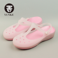 Summer Women Mules Clogs Summer Beach Breathable Slippers Woman S Sandals Jelly Shoes Cute Discolor Garden
