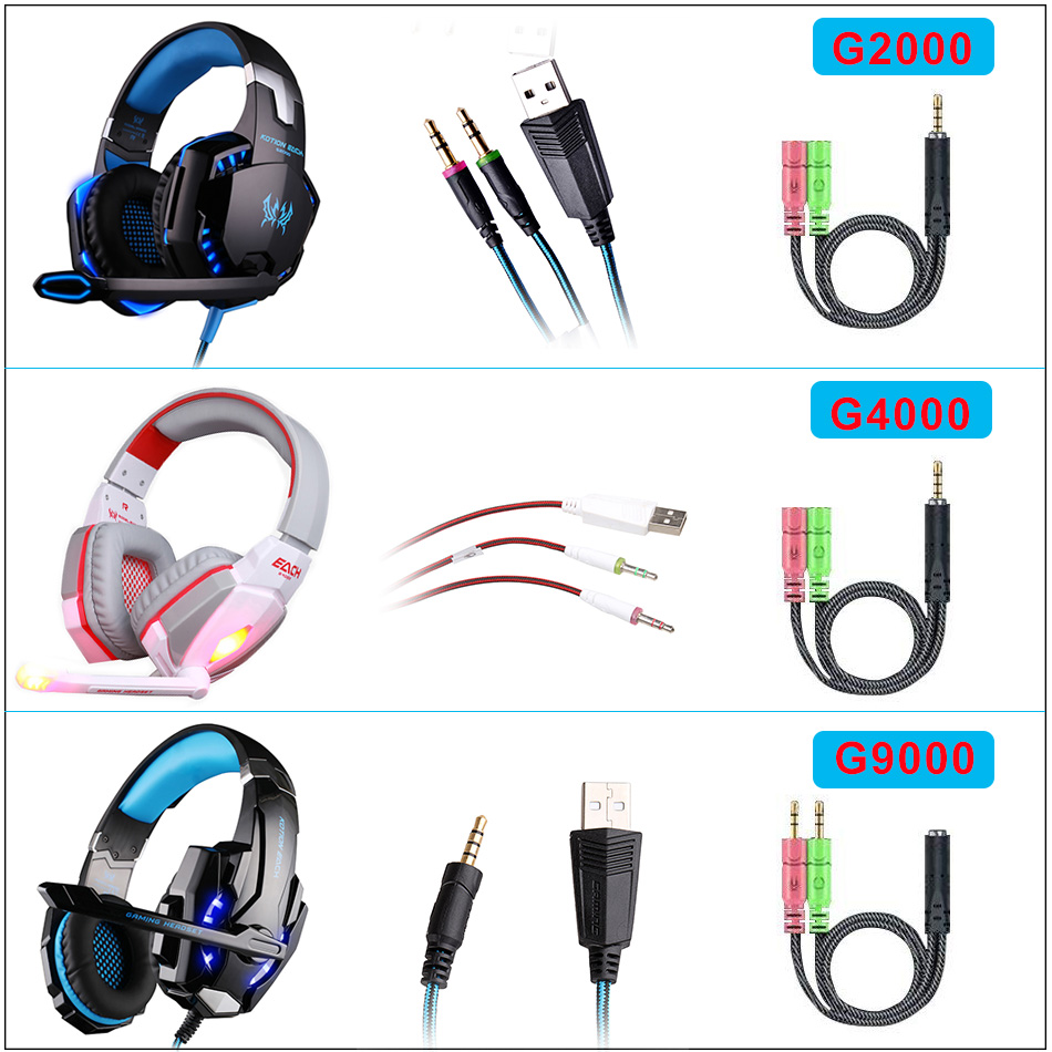 KOTION EACH G2000 G9000 Gaming Headset Big Headphones with