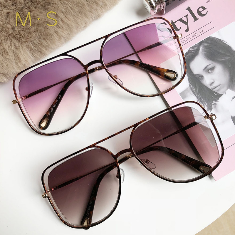 MS 2018 Women Luxury Decoration Classic Eyewear Female Sunglasses Original Brand Designer Sunglasses Sun Glasses Fashion UV400