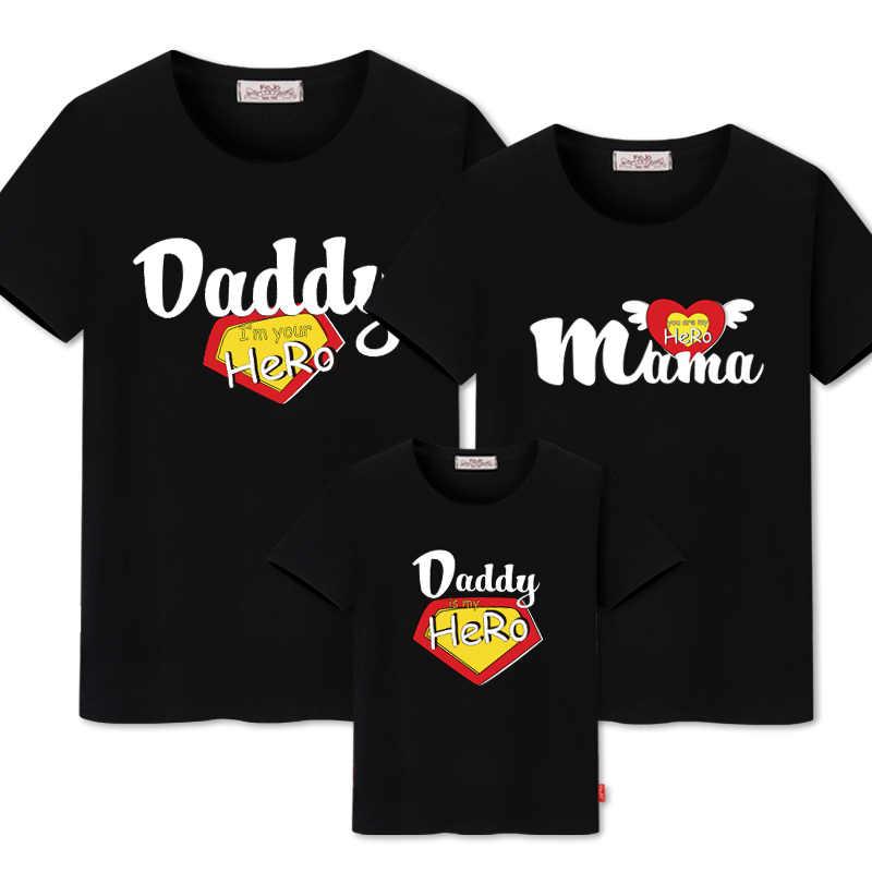 ครอบครัวจับคู่เสื้อผ้าลูกสาวแม่เสื้อผ้า Outfits Cotton Casual เสื้อยืดครอบครัวดูพ่อ SON mommy และ ME เสื้อผ้า